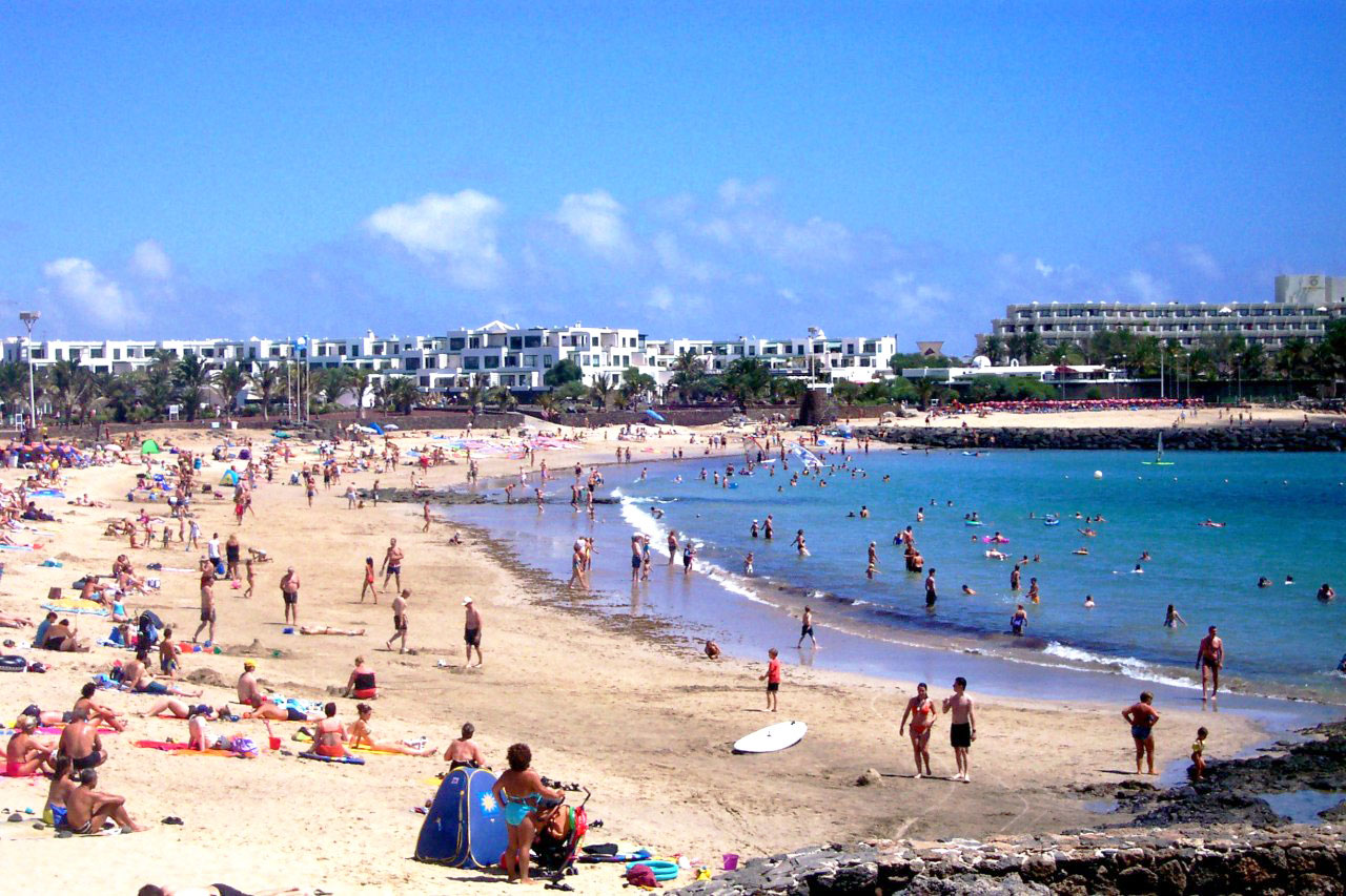 Map Of Costa Teguise Beaches